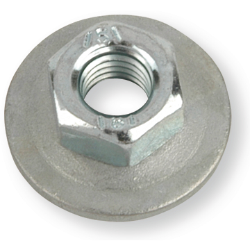 Keps Nuts, with Flange, Zinc Plated Steel 8 M5 galvanised